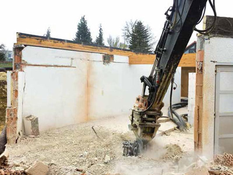 Роторная фреза для демонтажа зданий