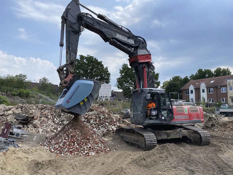Дробильный ковш для демонтажа сооружений