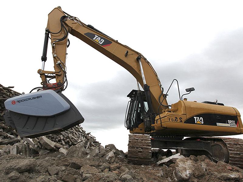 Ковш-дробилка для строительных материалов, бетона